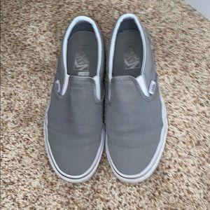 white dove grey vans
